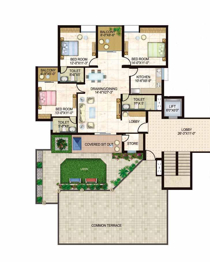 Pent-HouseFloor-Plan