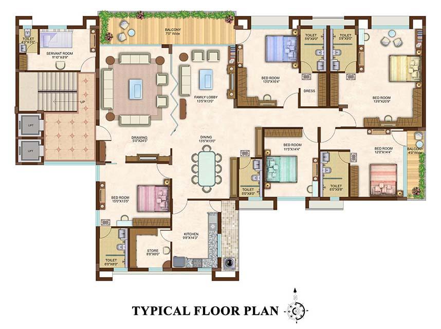 Ideal Properties   5 BHK One Floor One Flat